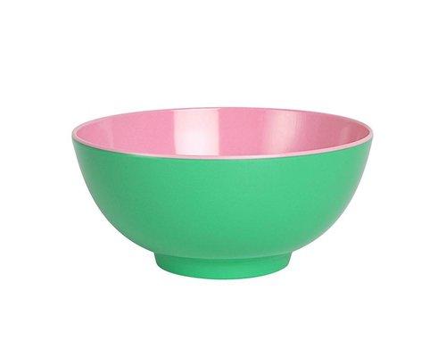 Aquamarine Two Tone Large Melamine Bowl