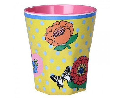 Vintage Flowers Large Melamine Cup