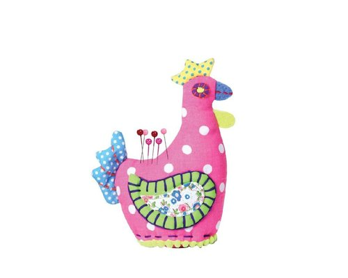 Happy Chicken Pin Cushion - Pink