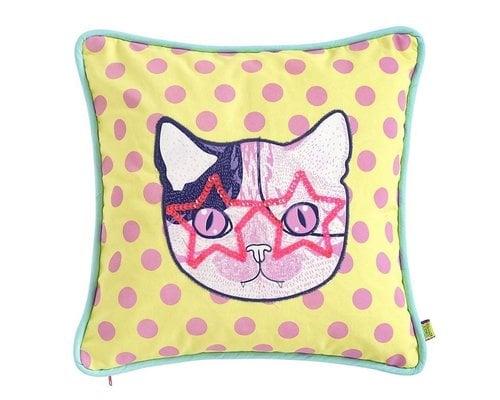 Cat Rock & Roll Cushion