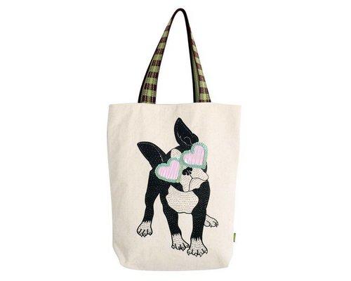 Bull Dog Rock & Roll Tote Bag