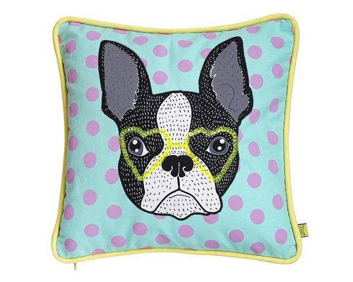 Bull Dog Rock & Roll Cushion