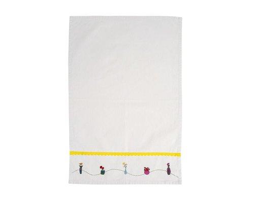 Plant&Cactus Tea Towel - Yellow Ribbon