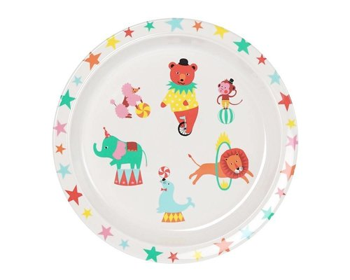 A Day at The Circus Melamine Round Plate