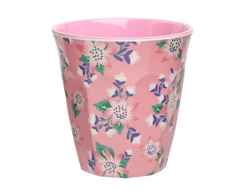 Full Bloom Medium Melamine Cup - Pink
