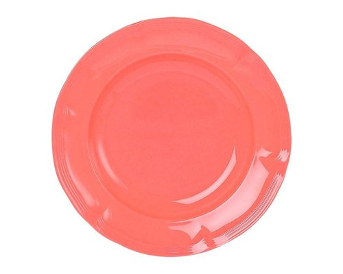 Funky Neon Vintage Melamine Dinner Plate - Fusion Coral