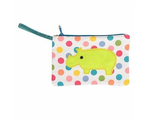 Dotty Fabric Kids Zip Pouch Animal