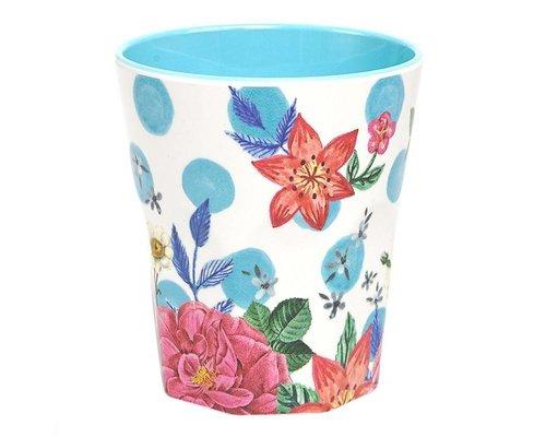 Summer Blossom Large Melamine Cup  - Dots