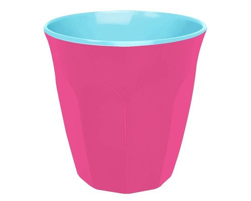Funky Neon Two Tone Medium Melamine Cup - Ultra Pink