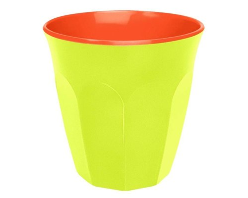 Funky Neon Two Tone Medium Melamine Cup - Lemonade