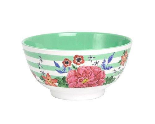Summer Blossom Medium Melamine Bowl  - Stripes