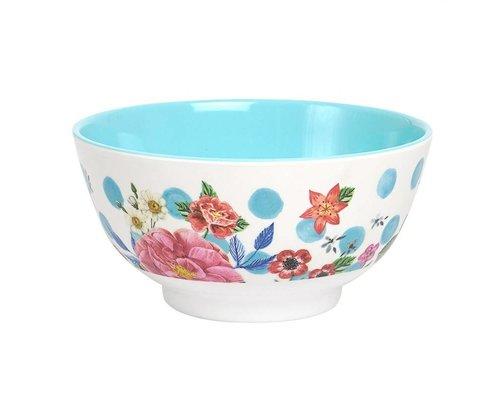 Summer Blossom Medium Melamine Bowl  - Dots