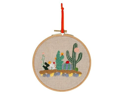 Embroidery Frame Cactus