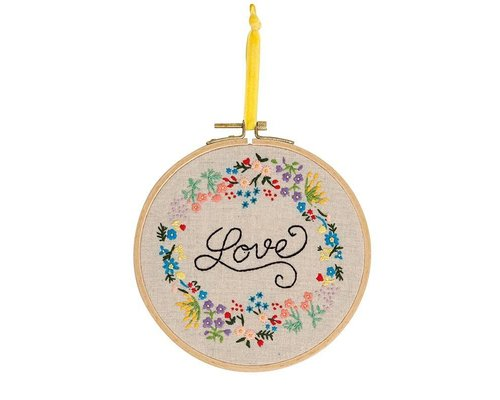 Embroidery Frame Love