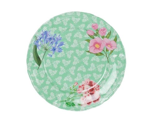 Sweet Botanical Vintage Melamine Dinner Plate