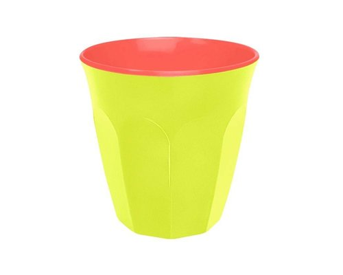 Funky Neon Two Tone Small Melamine Cup - Lemonade