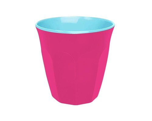 Funky Neon Two Tone Small Melamine Cup  - Ultra Pink