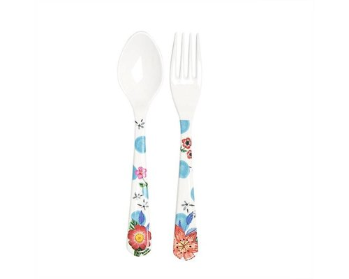 Summer Blossom Spoon and Fork - Dots
