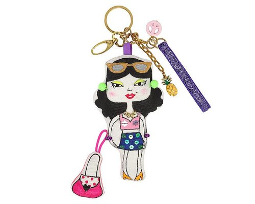 Keyring Girl Black