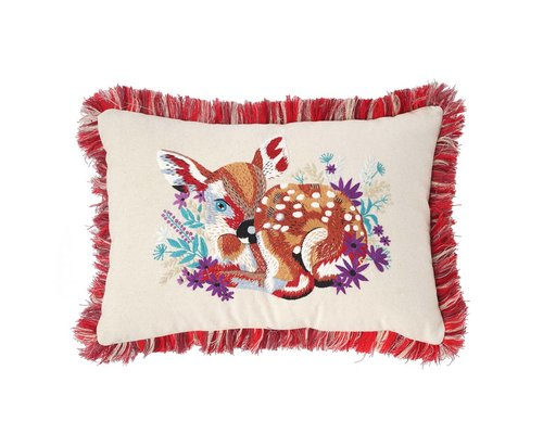 Forest Life Cushion - Deer