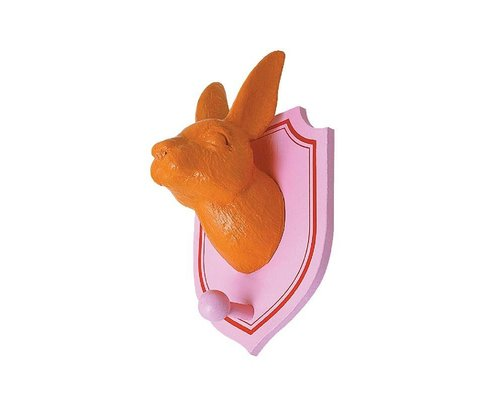 Wall Hanging Rabbit with hook - Orange
