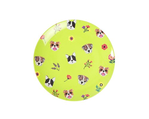 Dogs Small Melamine Plate
