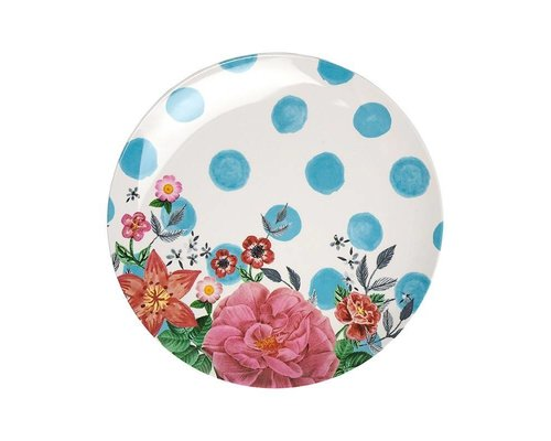 Summer Blossom Melamine Lunch Plate  - Dots