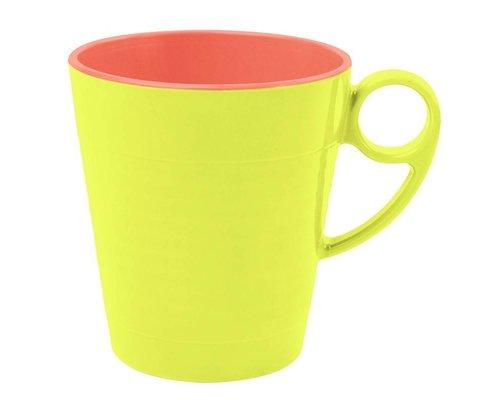 Funky Neon Two Tone Melamine Mug Yellow - Lemonade
