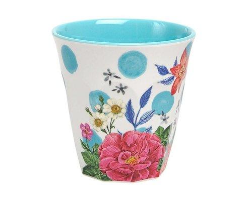 Summer Blossom Medium Melamine Cup  - Dots