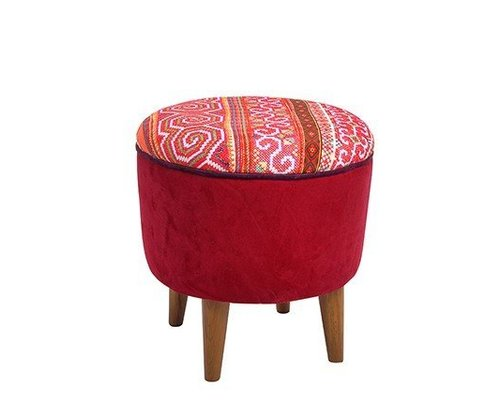 Hill Tribe Stool - Red