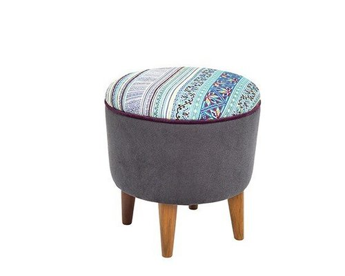 Hill Tribe Stool - Blue