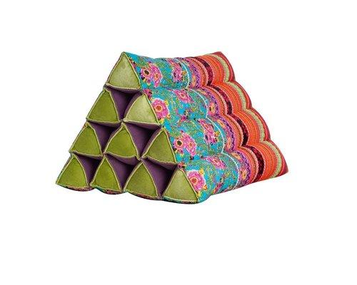 Oriental Garden Triangle Cushion