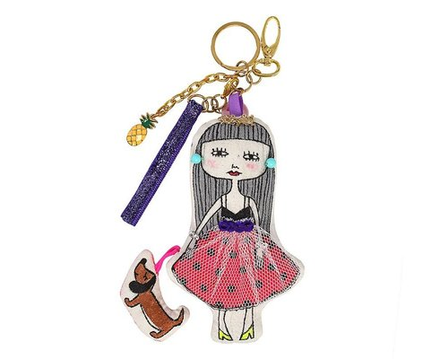 Keyring Girl Grey