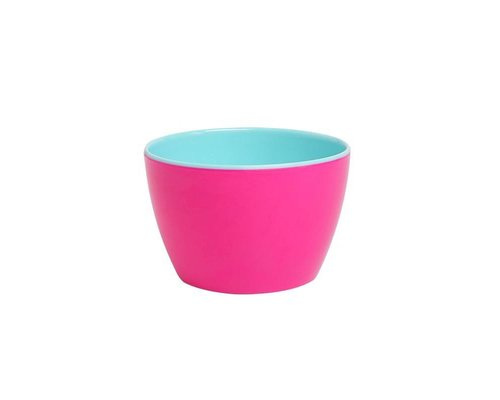 Funky Neon Two Tone Small Basic Bowl - Ultra Pink