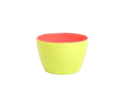 Funky Neon Two Tone Small Basic Bowl - Lemonade