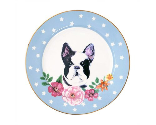 Dog Ceramic Lunch Plate