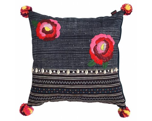 Hill Tribe Small Cushion Roses
