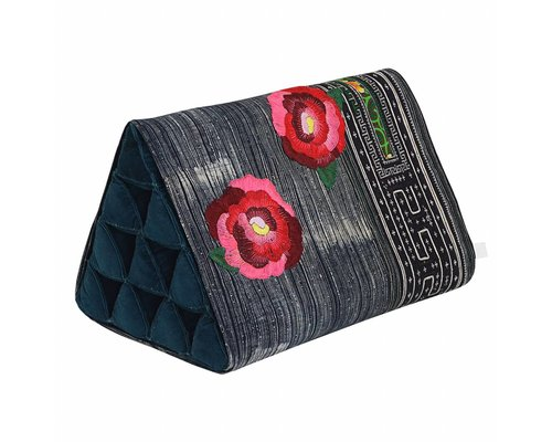 Hill Tribe Triangle Cushion Roses