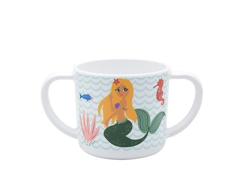 Delightful Mermaid Melamine Kids Mug - two handles