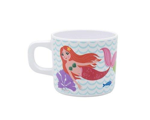 Delightful Mermaid Melamine Kids Mug - one handle
