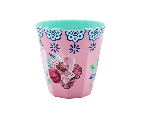 Cheerful Flower Small Melamine Cup