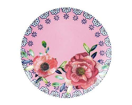 Cheerful Flower Melamine Lunch Plate