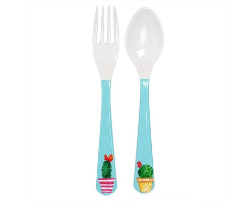 Lovely Cactus Melamine Spoon and Fork