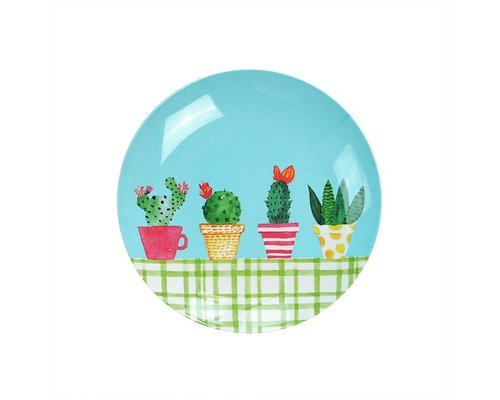 Lovely Cactus Melamine Mini Plate