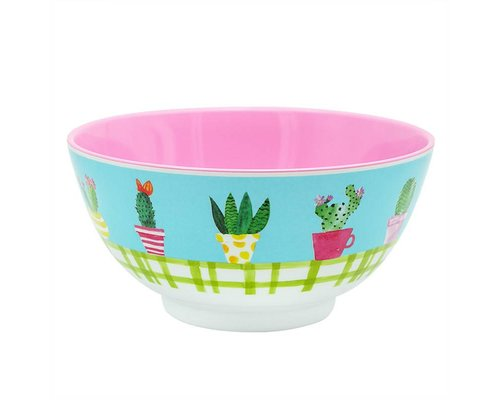 Lovely Cactus Medium Melamine Bowl