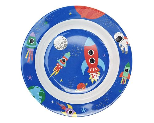 Happy in Space Melamine Deep Plate