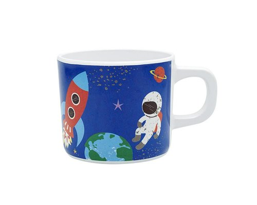 Happy in Space Melamine Mug - one handle