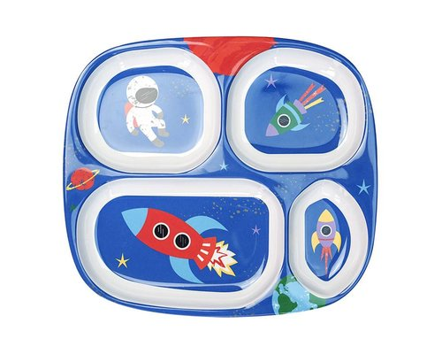 Happy in Space Melamine Compartment Plate