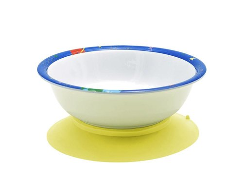 Happy in Space Melamine Bowl - suction base