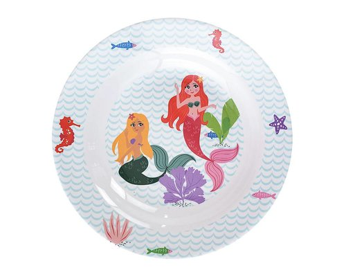 Delightful Mermaid Melamine Deep Plate